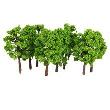 20 штук пластиковые дерево модель поезд железнодорожные пейзажи 1:150 масштаб миниатюрный Ландшафтный декор украшения-светильник зеленый