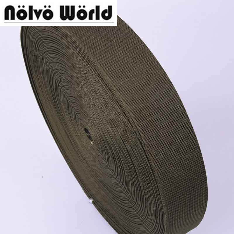 50mm 2 width 1.5thickness Eco-Friendly military green nylon webbing for military bags strap backpack strapping