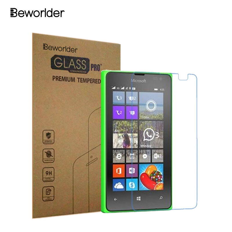 Beworlder For Microsoft Lumia 532 Tempered Glass For Nokia Lumia 532 Toughened S