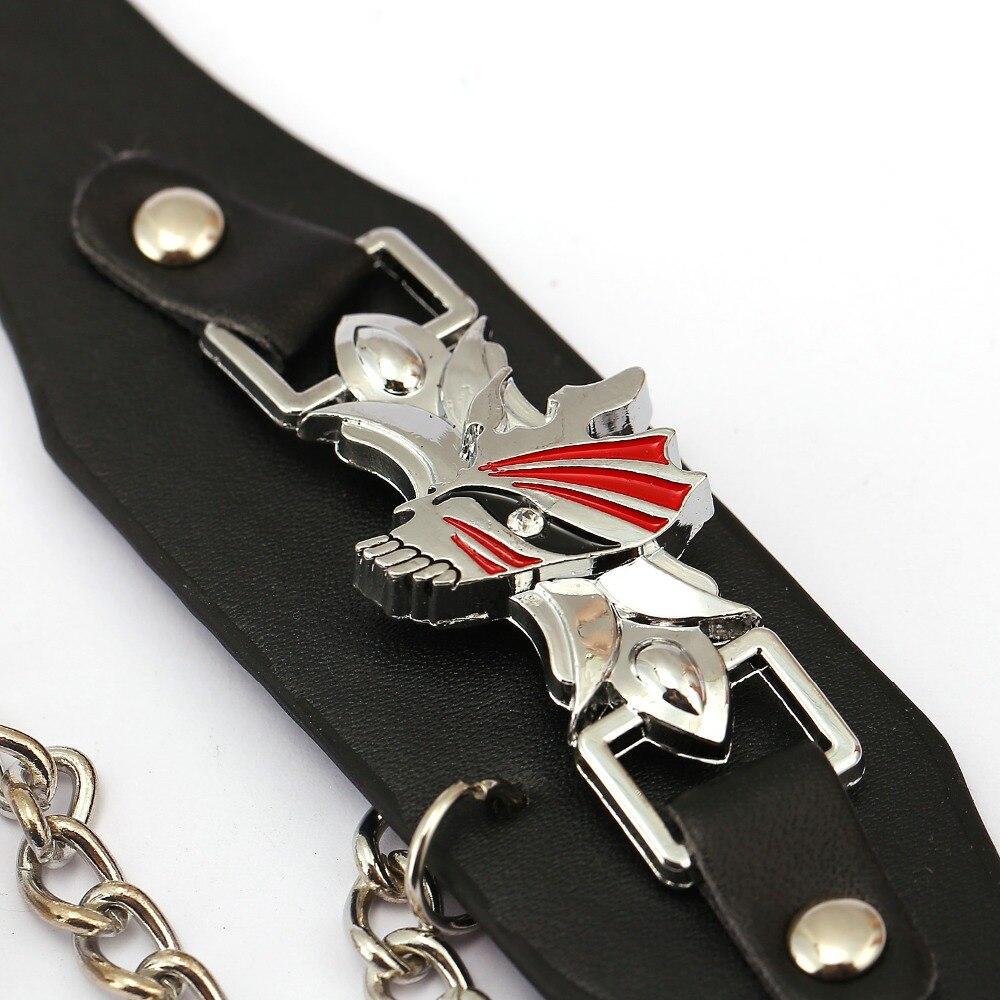 Bleach Leather Bracelet Jewelry Kurosaki Ichigo Link Charm Bracelets  Anime Cosplay Punk Bangle Men Women