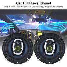 1Pair  6.5 Inch 16cm 600W 2 Way Universal Car Coaxial Hifi Speakers Auto Audio Music Stereo Speaker Non destructive Installati