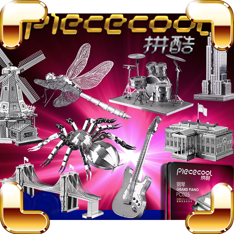 New Package Gift 3D Metal Model Building Insect Music Instrument DIY Handmade Nano Models Alloy Mini Collection Decoration Toys