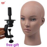 Горячая продажа Африканский манекен голова без волос для изготовления парика манекен для шляп косметологический манекен голова кукла женщ...