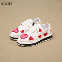 QGXSSHI Girls Boys Casual Shoes Brand Sneakers 2017 Spring Children Sport Shoes Baby Boys Shoes Kids Running Shoes Sneakers26~37