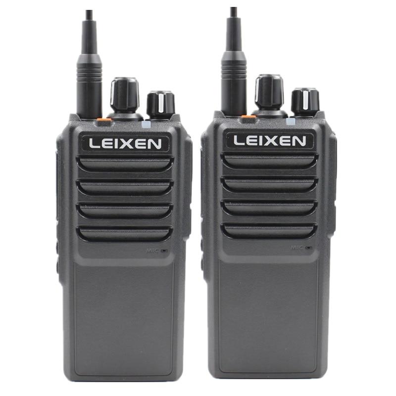 2pcs LEIXEN VV-25 Walkie Talkie Long Range 10 Km 25 Watts 12.6V 4000mAh Battery High Middle Low Power UHF Radio Amador Telsiz