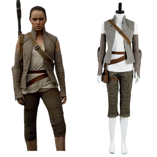 Star Wars rey traje adulto mujeres Star Wars 8 Cosplay el último ...