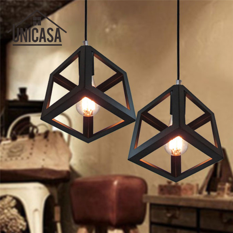 Us 17 15 54 Off Black Wrought Iron Light Fixture Vintage Lighting Fixtures Kitchen Modern Led Pendant Lights Antique Mini Ceiling Lamp In