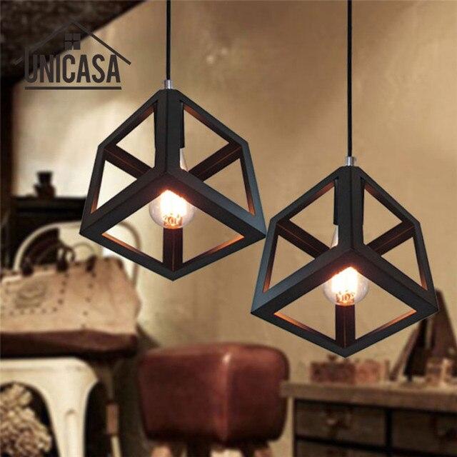 Black Wrought Iron Light Fixture Vintage Lighting Fixtures Kitchen Modern Led Pendant Lights Antique Mini