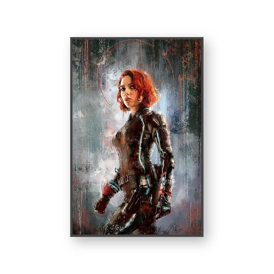 Настенный художественный холст с печатью постера, настенные картины для домашнего декора, Марвел, Мстители, фильм супергерой, Дэдпул, Железный Человек-паук, Локи - Цвет: L394V