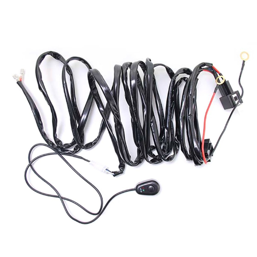 2018 Universal 12V 40A Car Fog Light Wiring Harness Kit