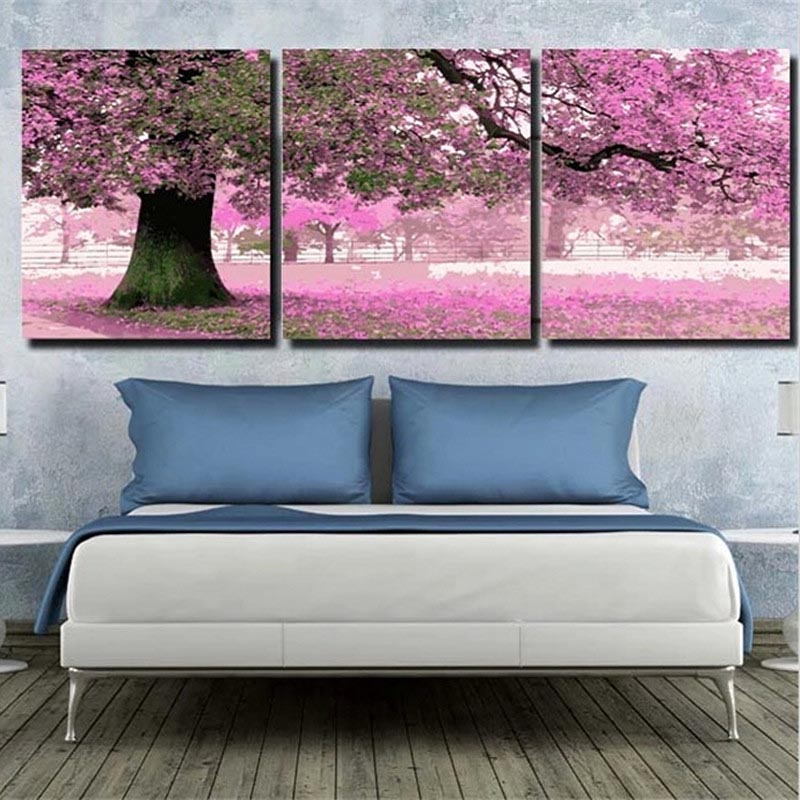 HTB12wtsXinrK1Rjy1Xcq6yeDVXaQ 3 pcs DIY Oil Painting by Numbers Flower Triptych Pictures Animal Coloring Landscape Abstract Paint Wall Sticker Home Decor Gift