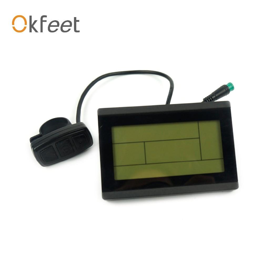 okfeet Free Shipping ebike 24V 36V 48V 72V intelligent KT LCD3 Control Panel Display Electric Bicycle