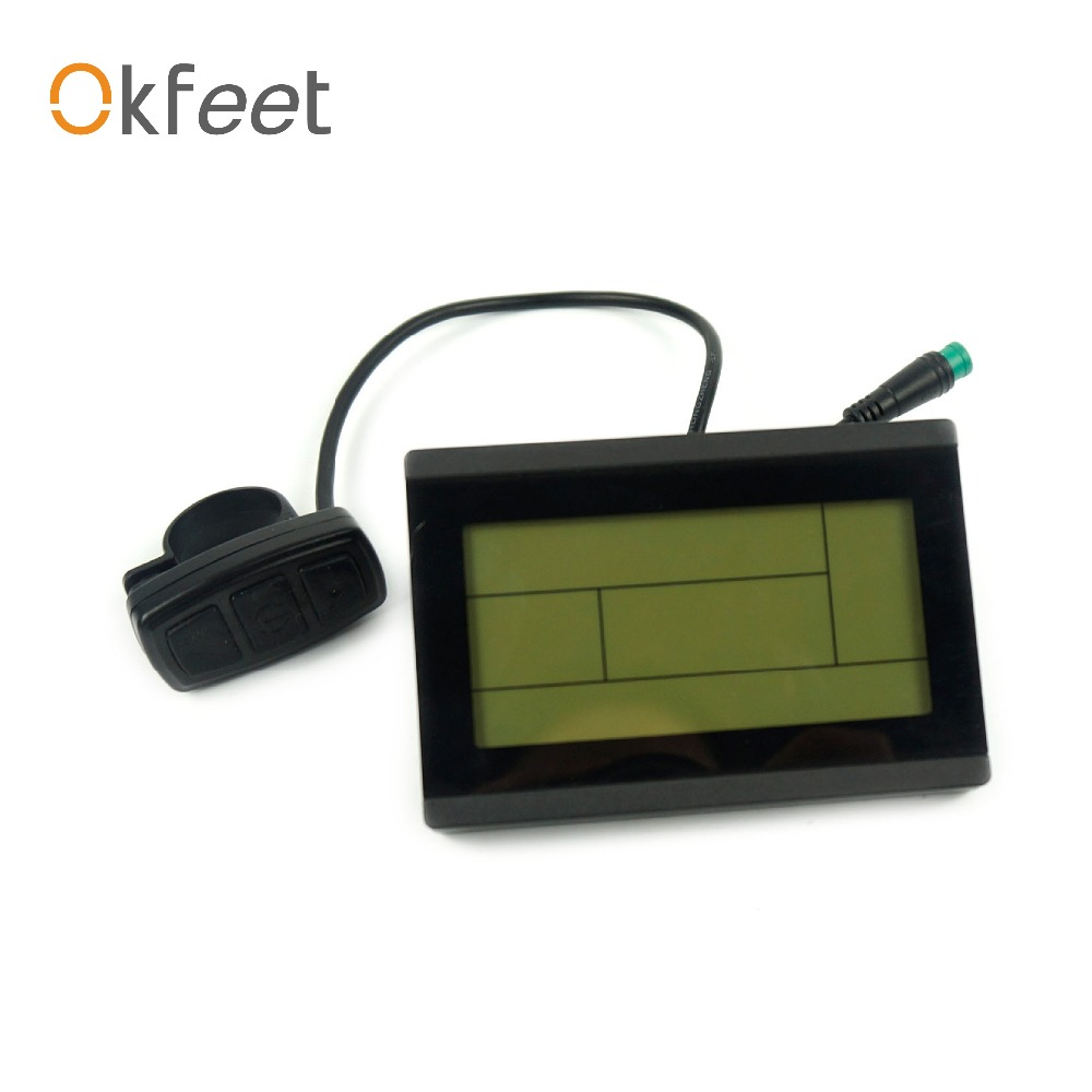 Okfeet ebike del envío libre 24 V 36 V 48 V 72 v inteligente KT LCD3 Panel de Control Display bicicleta eléctrica piezas de la bici KT