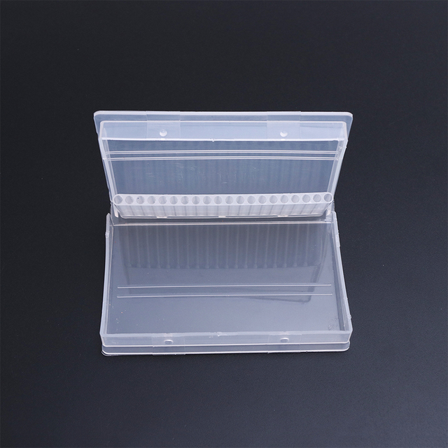 Full Beauty 20 Slots Storage Box For Nail Drill Bit Files Holder Container Case Display Organizer Acrylic Manicure Tool CHA35