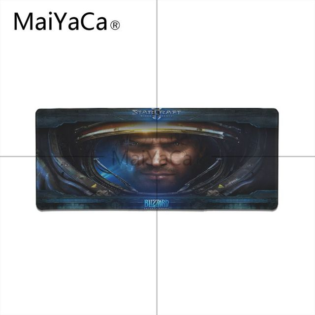 MaiYaCa  Starcraft Laptop Gaming Mice Mousepad Locking Edge Rubber Large Mousepads for DOTA2 Game Playing Lover 5