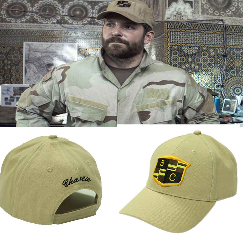 Coslive American Sniper Cap Hut Army Chris Kyle Hat Seal Team 3 Cosplay  Costume Props Halloween Party Cosplay Accessories Gift