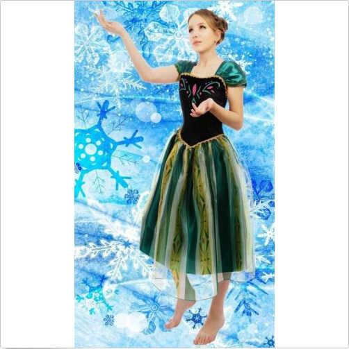 Fantasia da elsa & anna para festas, traje de festa para adultos, meninas, cinderela, branca de neve, princesa
