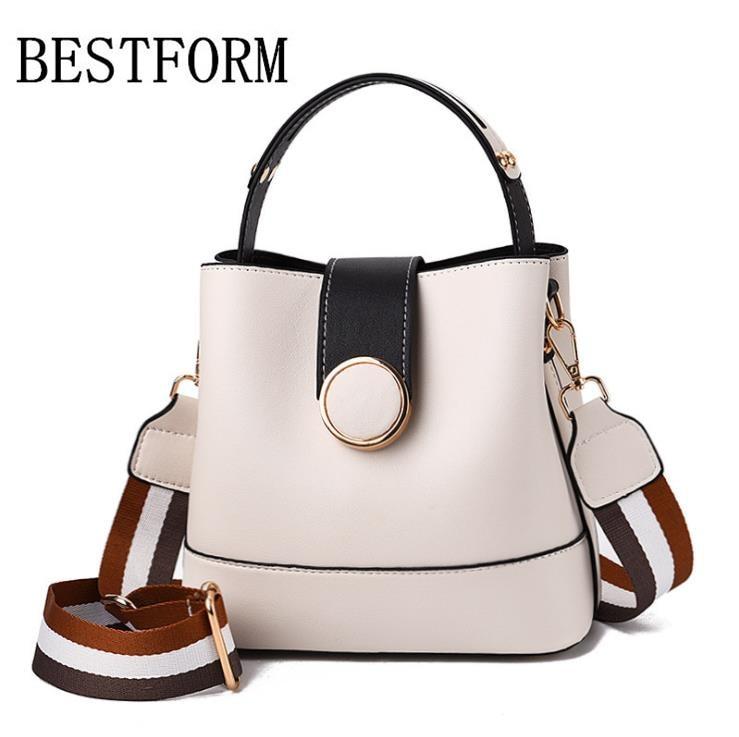 Designer women's handbags 2019 new bucket bag small bag wild soft leather Messenger bag fashion trend handbag shoulder bag
