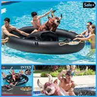 Egoes INTEX Swimming Pool Beach Lake Inflatabull Rodeo Bull Ride On Float 56280