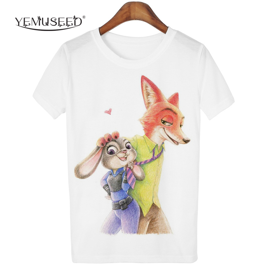 YEMUSEED Women Fashion Hipster Cartoon Printed Tops Tumblr Harajuku Pencil Drawing 3D T shirt Tees Plus Size XL WMT197