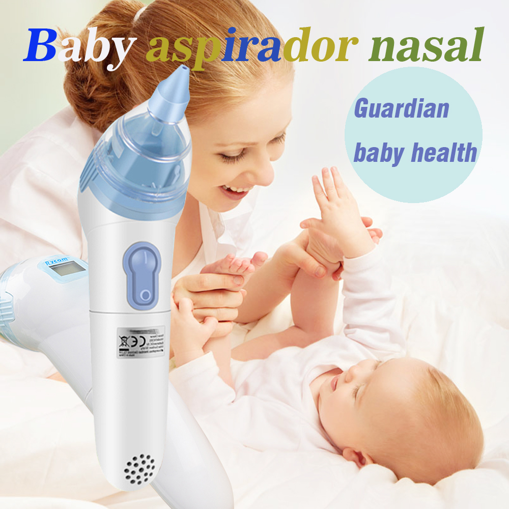 Limpiador de nariz electrónico Aspirador nasal para bebé 20 pzs. Higiénicas Tapas desechables Limpiador nasal digital para bebé 0-3 años