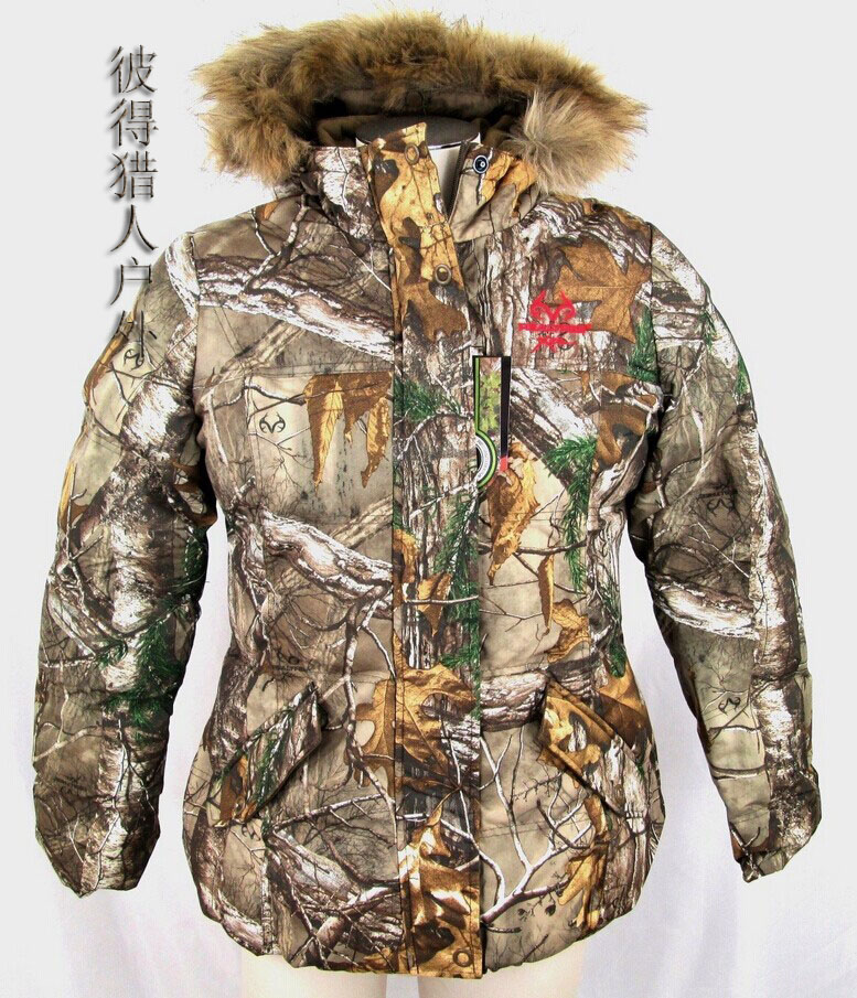 ФОТО BD29 Biomimicry realtree Camouflage women's Women winter cotton clothes outdoor wadded jacket hunting coat free ship
