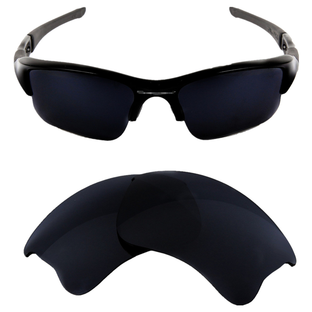 06a9137116 Inew Dark Grey Black polarized Replacement Lenses for Flak Jacket XLJ-in  Accessories from Apparel Accessories on Aliexpress.com