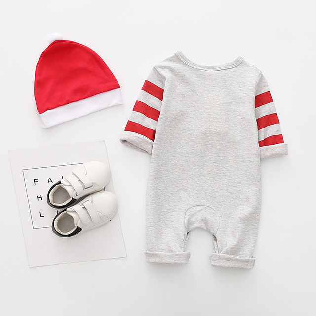 New arrival cotton baby rompers long sleeve autumn baby clothes baby boy's girl's Christmas costume deer Santa jumpsuits 1