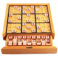High quality educational brainteaser wooden IQ Sudoku puzzles chess games