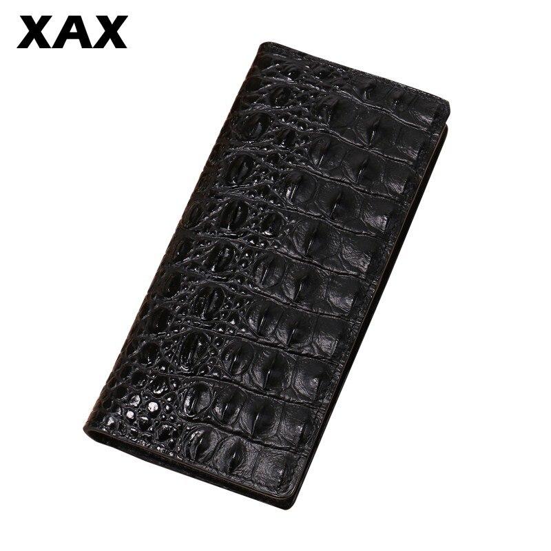 XAX portefeuille 3D alligator en cuir pour hommes sac à main pour hommes long bracelet pour hommes coin cauchemar avant noël pratique pour garçon 006 t
