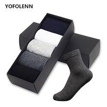 5 Pairs/Lot 2019 Mens Cotton Socks Plus Size Black Business Men Breathable Spring Autumn for Male US size(7-11.5)