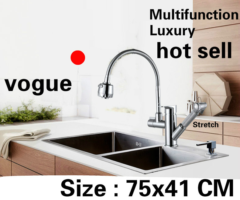Free shipping Apartment kitchen manual sink double groove multifunction do the dishes 304 stainless steel hot sell 750x410 MM Free shipping Apartment kitchen manual sink double groove multifunction do the dishes 304 stainless steel hot sell 750x410 MM