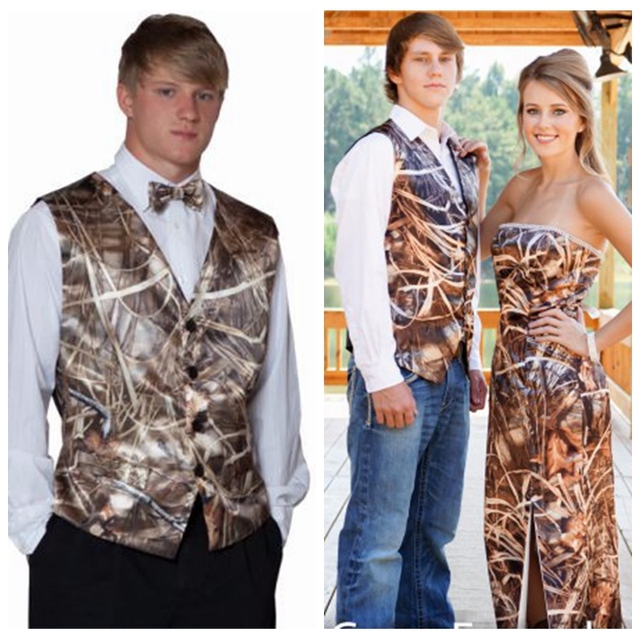 Custom Camouflage Tuxedos Unique Hunting Camo Men Wedding Vest Groom ...