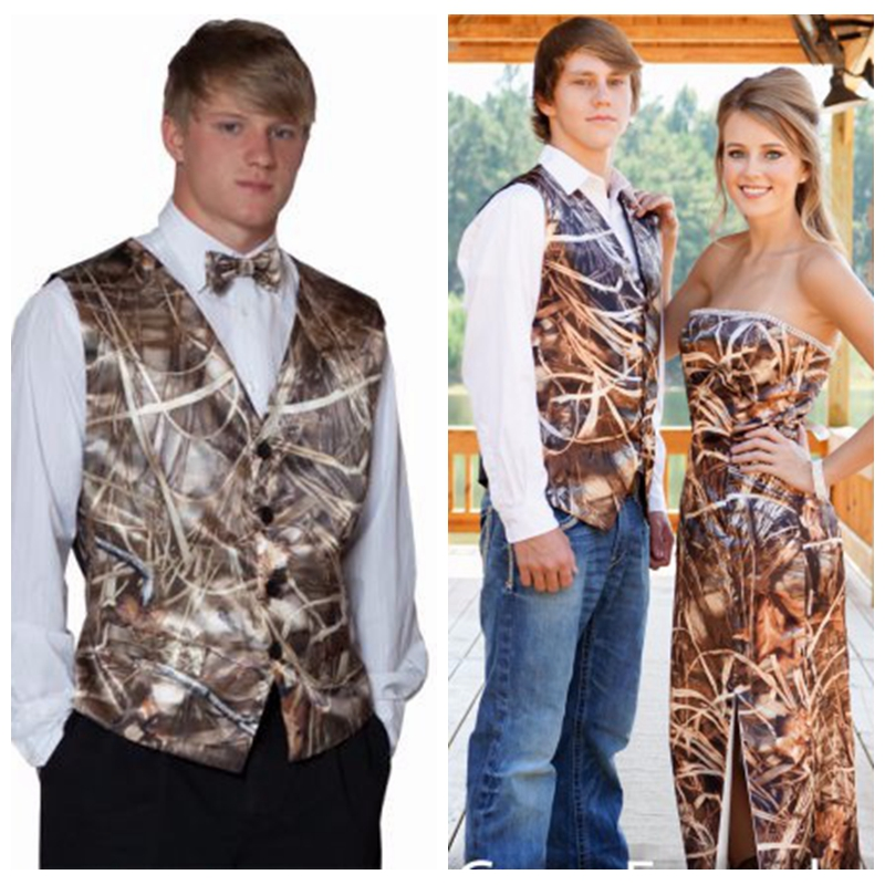 custom camouflage tuxedos unique hunting camo men wedding vest groom wear prom suits for men
