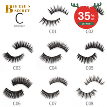10 Pairs Natural Individual Fake Eyelash Extension Supplies Makeup False Mink Eyelashes 3D Hair Lashes