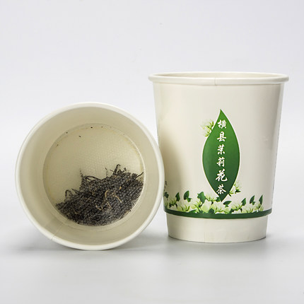30g Chinese Jasmine green tea jasmine tea flower tea Guangxi scented tea disposable paper cups perfumes 20pcs easy to brew free shipping jasmine 30g tank flower tea green tea chinese tea