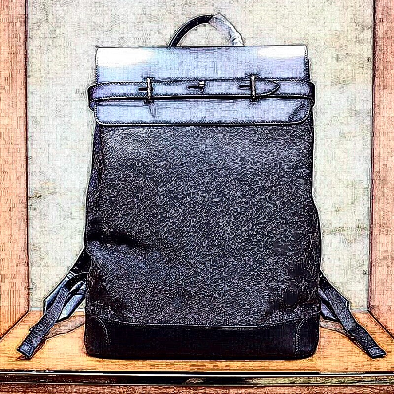 New Men Women Backpack Genuine Leather Patchwork Men School Bag Cover Backpacks Luxury Brand Letter Animal Prints High Quality