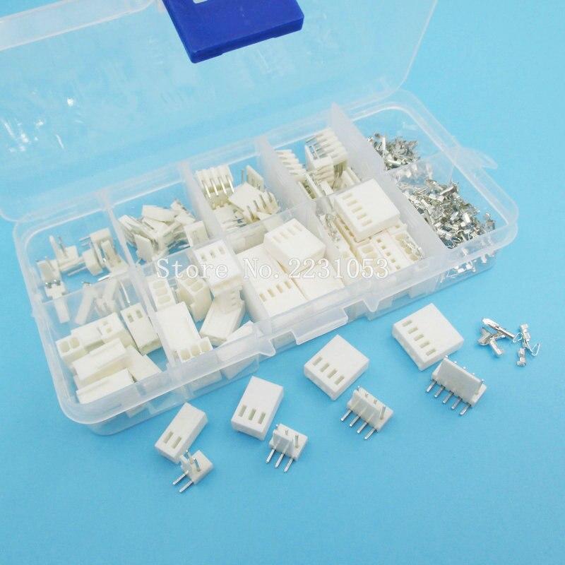 KF2510 Kits 40 Sets Kit In Box Right Angle 2p 3p 4p 5 Pin 2.54mm Pitch Terminal / Housing / Pin Header Connectors Adaptor