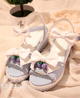 Japanese Lolita Princess Strawberry Bell Bowtie Sweet Cute Girl   Shoes   Sandals Cosplay   Shoes