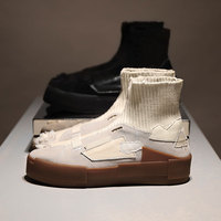 2019 Brand Fashion Women Flats Slip On Women Shoes Sock Boots Tide Chic Short Booties Autumn Winter Mid calf Boots Star Botas