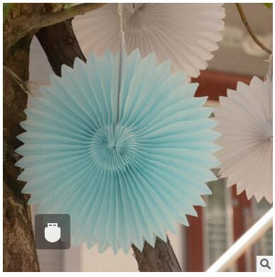 theme party supplier paper fan hanging decorations paper rosettes backdrop birthday bridal showers weddings decor