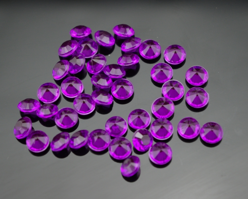 2000pcs 10mm Purple Acrylic Diamond Confetti Table Scatter Crystals Wedding  Party Table Decoration(China) Part 49