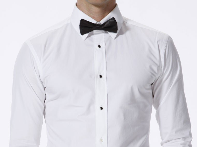 White Shirt Black Buttons Mens | Is Shirt