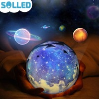 Starry Sky Magic Star Moon Planet Rotating Projector Lamp LED Night Light Cosmos Universe Luminaria Baby
