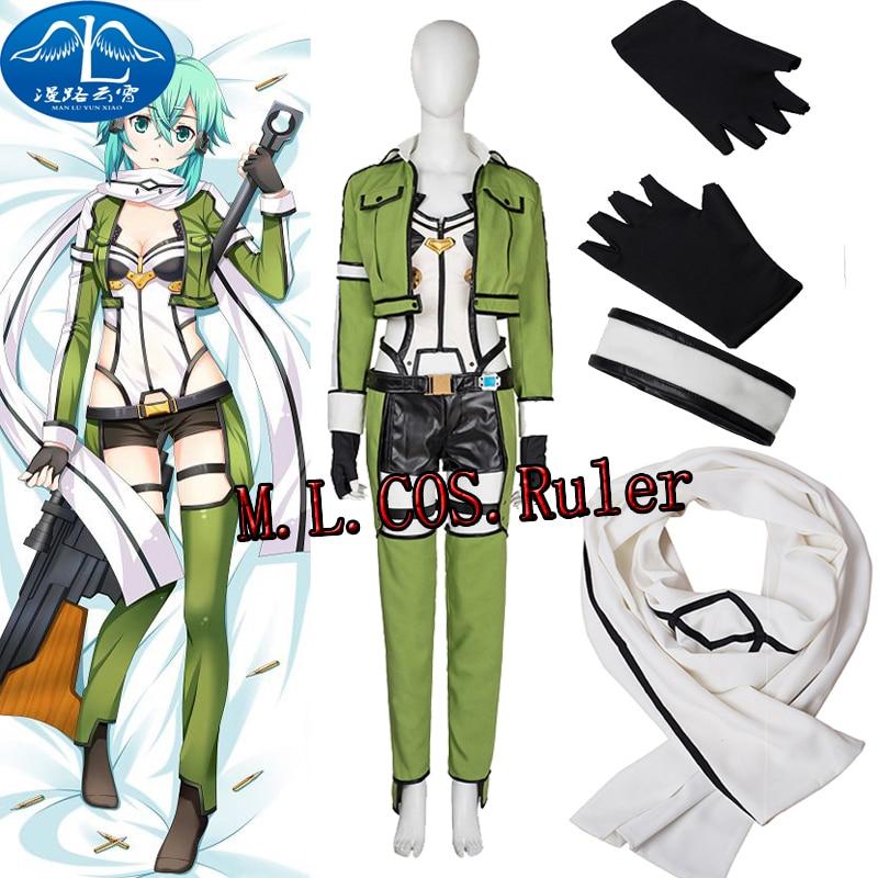 693510ecc78 Hot anime espada arte en línea Phantom Bullet Cosplay personalizar traje  completo envío libre en Disfraces anime hombre de La novedad y de uso  especial en ...