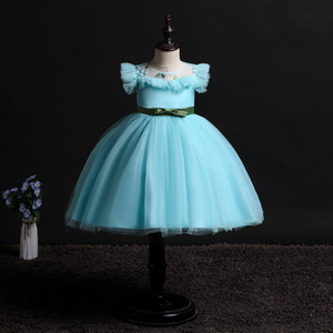 Image 5 - 2019 New Children Birthday Tutu Dress For baby Girls Kids Princess Party Clothes Wedding Holiday Wear Ceremony Evening Dress