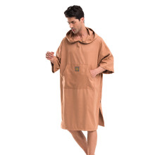 Poncho Bath Towel Woman Mens Brown Portable Quick-drying Windproof Warm Robe  Outdoor Adult Hooded Beach