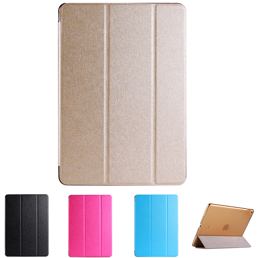 Natural Silk and Plastic Back Cover Case For iPad Air 2