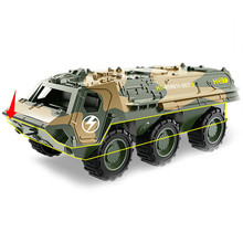 Abbyfrank 1:64 Mini Model Pull Back Alloy Car Military Armored Series Vehicle Multiple Style  Toys For Children Boy Diecast
