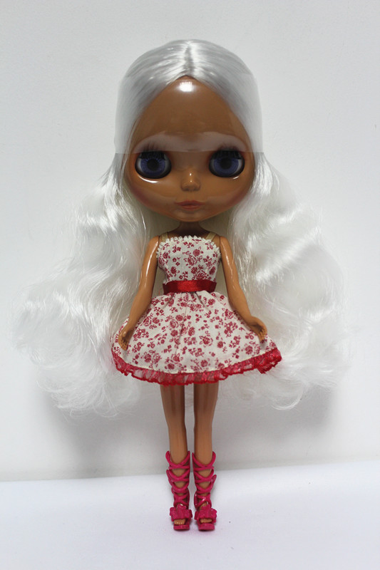 Free Shipping big discount RBL-120DIY Nude Blyth doll birthday gift for girl 4colour big eyes dolls with beautiful Hair cute toy free shipping bjd joint rbl 415j diy nude blyth doll birthday gift for girl 4 colour big eyes dolls with beautiful hair cute toy